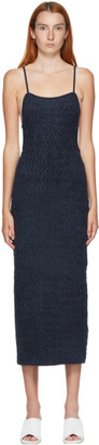 Jacquemus Navy Maille Velour Dress