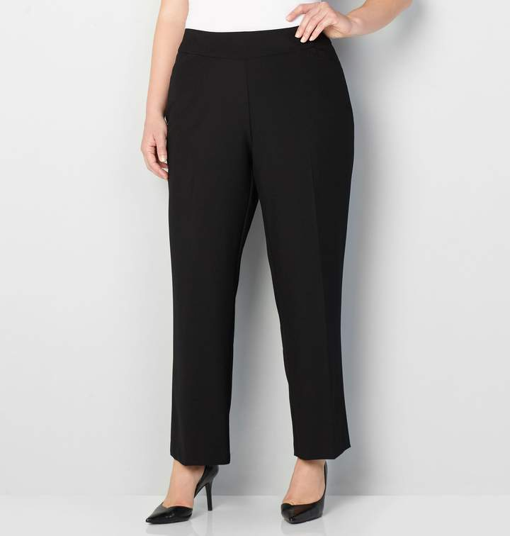 91830a293 Black Polyester/rayon/spandex Pull-on Pants - ShopStyle