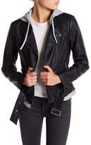 Blanc Noir Ladies Faux Leather Jacket
