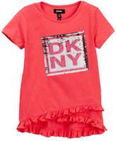 DKNY Reversible Sequined Tee (Big Girls)