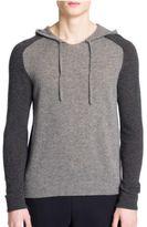 Emporio Armani Colorblock Hooded Cashmere Sweater