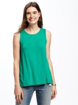 Old Navy Relaxed Tulip-Back Jersey Sleeveless Top for Women
