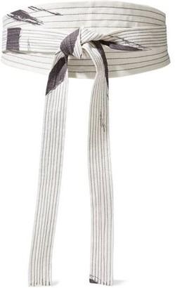 Zimmermann Painted Heart Printed Linen Waist Belt