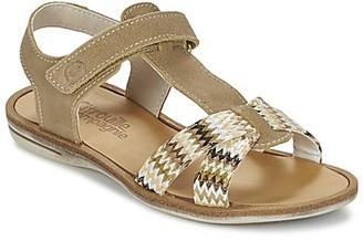 Citrouille et Compagnie GIFOU girls's Sandals in Beige