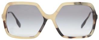 Burberry Tortoiseshell Oversized Square Sunglasses