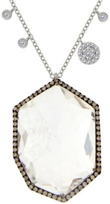 Meira T 14K & Silver 19.78 Ct. Tw. Diamond & White Topaz Necklace