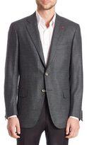 Isaia Check Wool & Cashmere Blazer