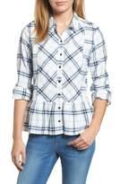 Caslon Peplum Plaid Shirt