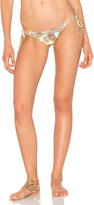 Pilyq Embroidered Lettuce Teeny Bikini Bottom