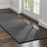 Crate & Barrel Salome Charcoal Grey Indoor/Outdoor Rug Runner