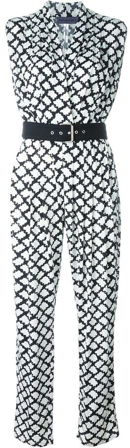 Ungaro printed V-neck jumpsuit