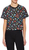 Love Moschino Floral Print Sweatshirt