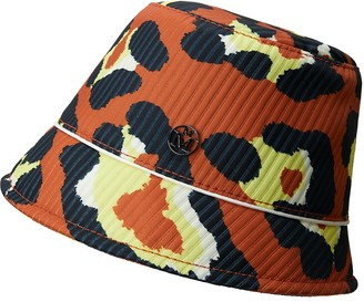 Maison Michel Souna leopard-print bob hat