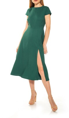Alexia Admor Lily Crew Neck Midi Dress