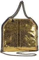 Stella McCartney Mini Falabella Metallic Snake Tote