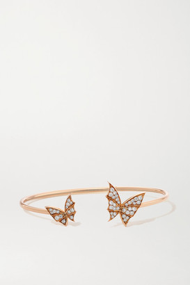 Stephen Webster Fly By Night Wings 18-karat Rose Gold Diamond Cuff - one size
