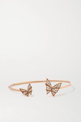 Stephen Webster + Net Sustain Fly By Night Wings 18-karat Rose Gold Diamond Cuff - one size