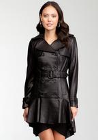 Hi-Lo Leather Trench Coat