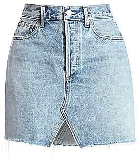 A Gold E AGOLDE Women's Ada Double Pocket Organic Denim Skirt