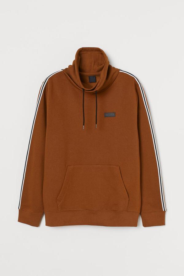 H&M Chimney-collar Sweatshirt - Yellow