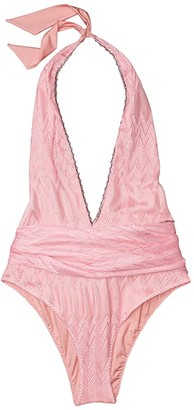 Missoni Mare One-Piece Swimsuit w/ Sash (Pink) Women's Swimsuits One Piece