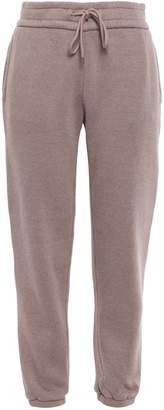 James Perse Cropped Cotton-blend Fleece Track Pants