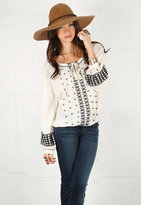 Embroidered Top with Banded Bottom - by Love Sam
