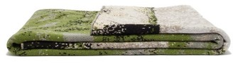 Saved Ny - Marble Cashmere-jacquard Blanket - Green
