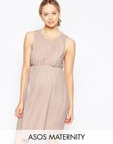 Asos Ruched Mini Tulip Dress