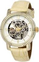 Akribos XXIV Women's AKR503YG Skeleton Automatic Strap Watch