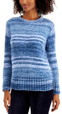 Style&Co. Petite Style & Co Printed Chenille Sweater, Created for Macy's