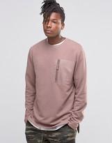 Asos Sweatshirt With Print Pocket