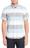 Jack Spade Men's Trim Fit Wide Stripe Oxford Sport Shirt