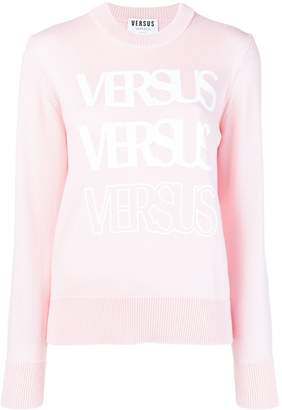 Versus logo long-sleeve sweater