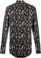 Dolce & Gabbana musical instrument print shirt