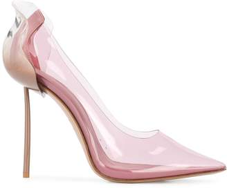 Le Silla Transparent Pointed-Toe Pumps