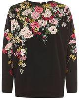 Topshop Kimono embroidered sweatshirt