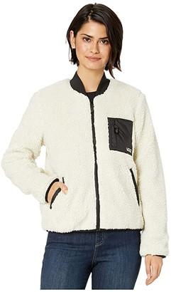 Vans Misty Fog Sherpa Jacket (Bone White) Women's Clothing