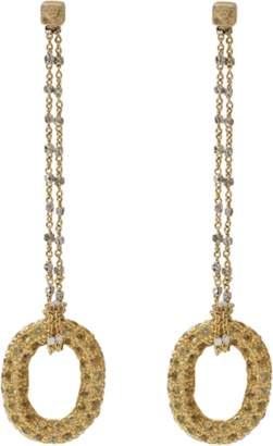 Carolina Bucci 1885 Yellow Sapphire Link Earrings