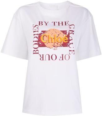 Chloé oversized slogan T-shirt