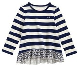 Vineyard Vines Toddler Girl's Etched Whale Ruffle Top