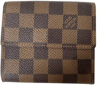 Louis Vuitton Brown Cloth Wallets