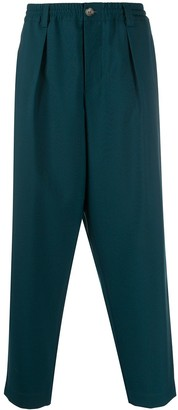 Marni Pleated-Front Tapered Trousers