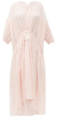 Binetti Love Tiered Striped Voile Dress - Womens - Light Pink