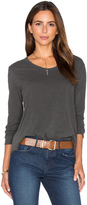Wilt Long Sleeve Baby Unfinished Notch Hem Tee