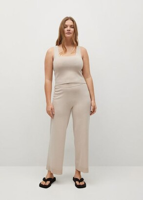 MANGO Knitted top with wide straps