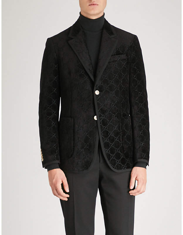Gucci Palma GG regular-fit velvet jacket