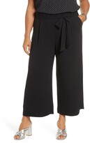 Halogen Belted Crop Wide Leg Pants (Plus Size)