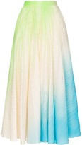 Roksanda Ambra ombre pleated maxi-skirt