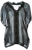 Ann Demeulemeester printed sheer shirt